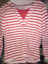 white and red striped polo shirt Grawn, 49685