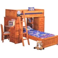 brown wooden bunk bed with storage Chandler, 85226
