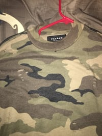 green and black camouflage Pacsun crew-neck shrt Imperial Beach, 91932