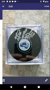 Ray Bourque autographed Colorado Avalanche puck Windsor, N9G 2G8
