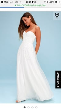 Women's white sweetheart neckline wedding dress Rockville, 20854
