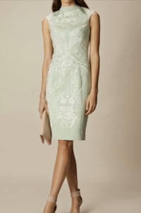 Karen Millen Embroidered Pencil Dress