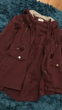 Maroon army jacket  Maple Ridge, V2X 9H5
