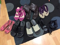 Size 9 Women's assorted sandals and boots 2658 km
