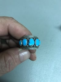 Silver Turquoise American Indian Ring Rancho Cucamonga, 91730