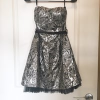 Silver QED London Cocktail Dress - size small Vancouver, V5R
