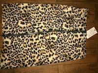 women's leopard zippered pencil skirt 34 mi