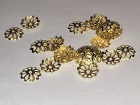 Gold Plated Filigree Bead Caps jewellery making Supplies