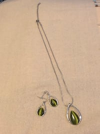 Jewelry set: earrings and necklace  Milton, L9T 8J4