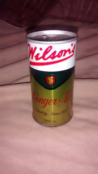 1980s Wilsons ginger-ale very rare pop top pop canPlease Contact Toronto, ON, Canada