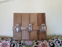 Wooden hanging decoration with mason jars 134 mi