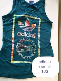 blue and white Adidas tank top Montréal, H2P 1Z4
