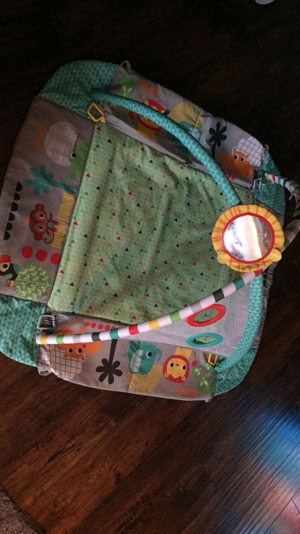 Baby's green and red activity gym