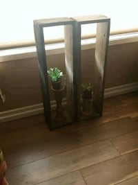 brown wooden framed glass display cabinet West Covina, 91790