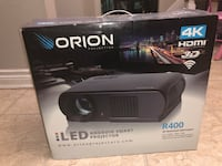 Orion r400 3d smart projector 4k led comes with retractable screen NEW Newmarket, L3Y 2B4