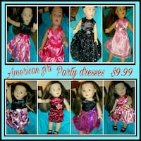 Party dresses for American Girl, Brand new Shoreline, 98133