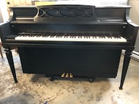 black and white upright piano Georgetown, L7G 6C7