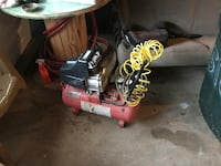 black and red air compressor Easton, 18045