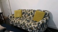 brown and black floral fabric sofa Hyattsville, 20784