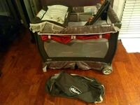 baby's black and red travel cot 1196 mi