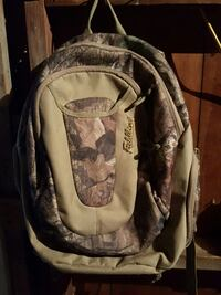 gray, brown, and black backpack Minster, 45865