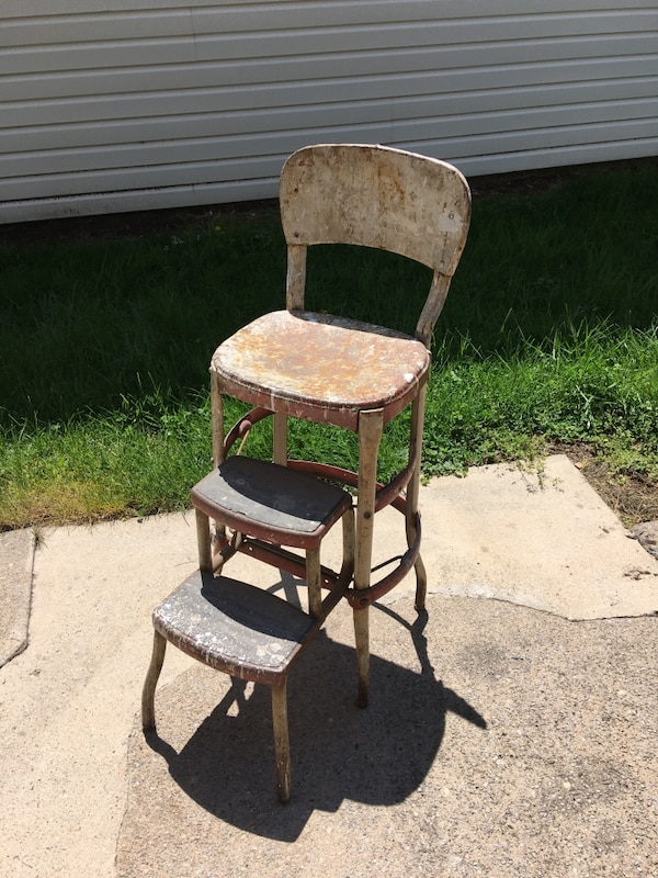 Awe Inspiring 1950S Vintage Cosco Step Stool Chair Ocoug Best Dining Table And Chair Ideas Images Ocougorg