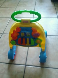 baby's yellow and blue activity walker