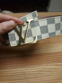 damier azur Louis Vuitton belt Waterford, 95386