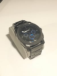 Mens fossil watch - grey and teal