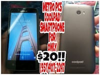 Coolpad Smartphone For Metro Pcs For Only $20!! Corona, 92882