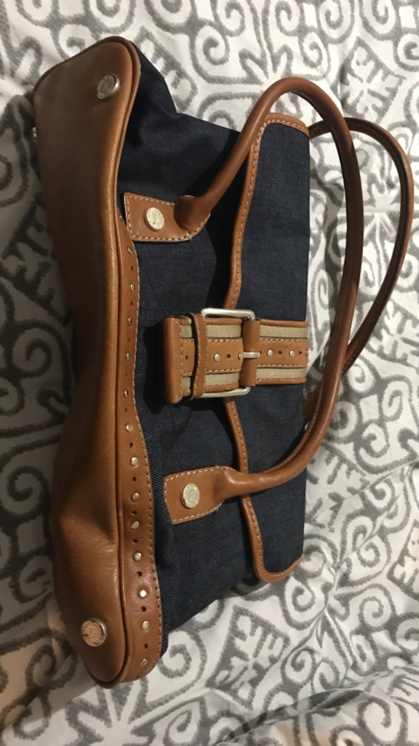 793abe8a1427 Used Michael Kors denim and brown purse. Barely used. for sale in Ross -  letgo