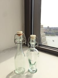 2 of Clear glass bottle New York, 10005
