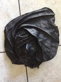 Black leather mask. Beautiful alone or grouped with others sold on this site. Peabody, 01960