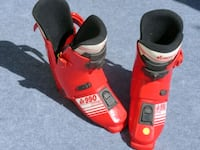Size 9 red-and-black ski boots - it's almost that season Stony Plain