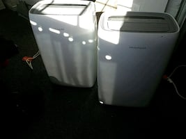 Two Frigidaire portable air conditioners, FFPA1022T1
