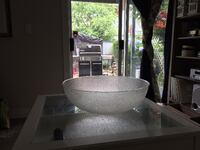 Extra large commercial sized salad/punch bowl made of transparent resin Coquitlam