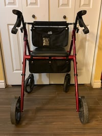 Folding Walker with brakes and storage