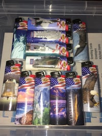Set of 12 brand new BIC lighters commemorating USO, US military and America  Louisville, 40258