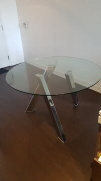 Luxury Mobilia Glass Top Dining Table - Like New Toronto