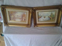 two brown wooden framed painting of flowers Alexandria, 22306