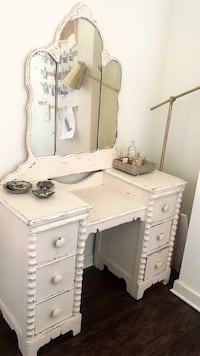 white wooden vanity dresser with mirror Orlando, 32801