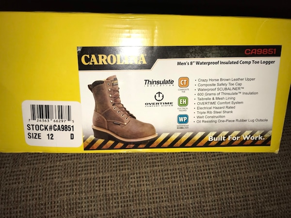 latest discount classic shoes online for sale Carolina Steal Toe Boots size 12