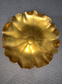 Golden Metal Flower Decor