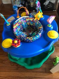 baby's blue and green exersaucer Vaughan, L6A 3S7