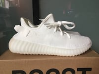 Pair of cream white  Yeezy Boost 350 v2 Replicas 3139 km