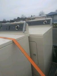 white clothes washer and dryer set Falls Church, 22046