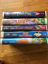 VHS DISNEY BLACK DIAMOND CLASSIC 5 MOVIES