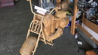 brown wicker touring motorcycle figure Tacoma, 98444