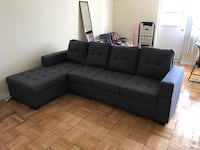 Brand new in box, grey fabric sectional sofa warehouse sale  多伦多, M1V 1S4
