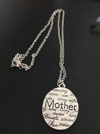 """Hand stamped  """"Mother"""" necklace Port Coquitlam"""